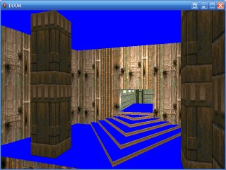 DOOM2's MAP01 with wall textures correctly aligned.