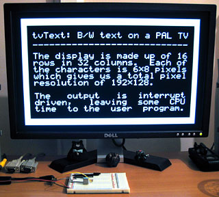 tvText demo screen