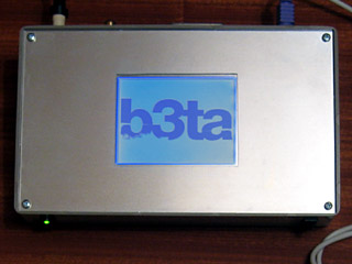 Z80 computer displaying b3ta