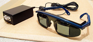 LCD shutter glasses with adaptor