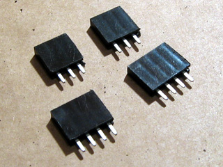 8-way pin socket cut in two and neatened up