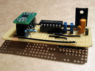 Populated video amplifier circuit board