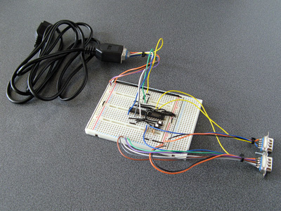 Photo of the revised two-chip adaptor prototype