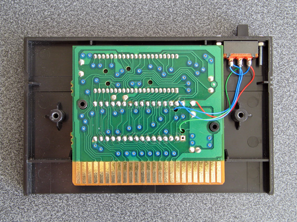 The switch and its soldered connections to the main PCB