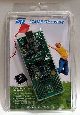 STM8S-Discovery in its packaging