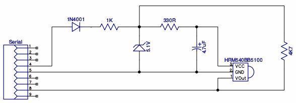 Infra-red receiver module schematic